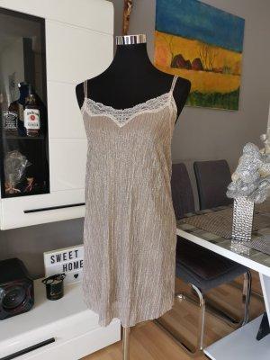 Plisiertes Kleid von Zara, Gold, Must Have