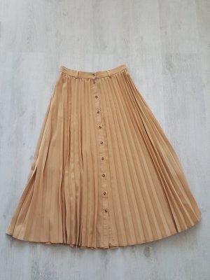 Stradivarius Pleated Skirt beige