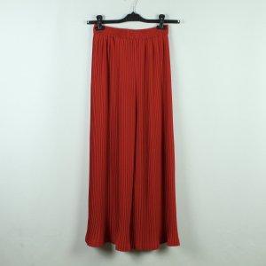 PLISSEE Culottes Gr. 38 rot weites Bein High Waist (20/10/356*)