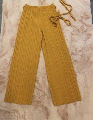 Keine Marke Spodnie 7/8 złotopomarańczowy