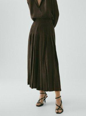 Massimo Dutti Jupes-culottes brun foncé cupro