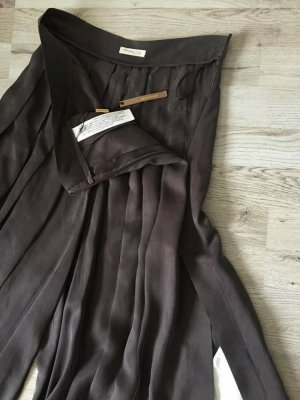Massimo Dutti Pleated Trousers taupe copper rayon