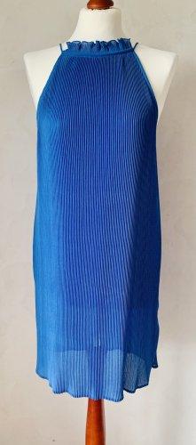Plissee Kleid Blau