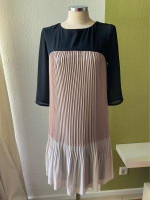 Plissee Kleid Conleys Knielang beige schwarz