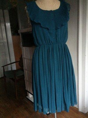 Plissee Kleid Mint&Berry, Midi-Kleid, Gr. 38, Petrol, Sommer 2020