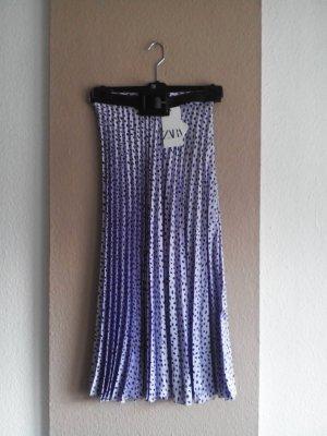 Plissee-Midirock in lila-schwarz mit Gürtel, Größe S, neu