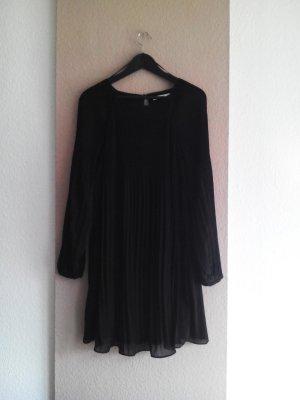 Plissee-Minikleid in schwarz, Grösse S