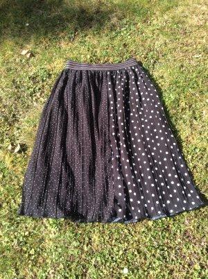 Zara Basic Jupe plissée noir-blanc