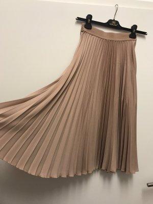 H&M Pleated Skirt nude-beige