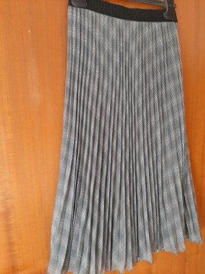 Zero Spódnica midi antracyt-szary niebieski