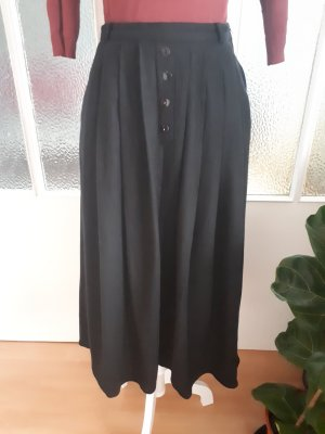 Pleated Skirt black wool