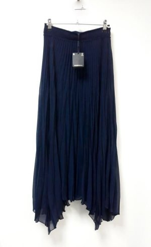 Massimo Dutti Pleated Skirt dark blue