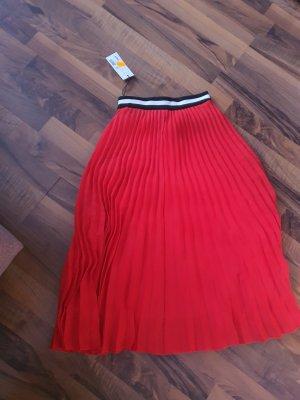 Oui Set Falda plisada rojo