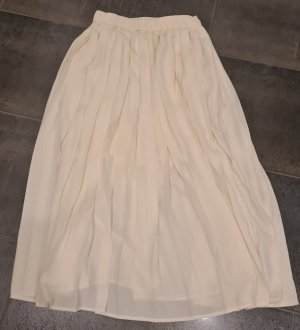 H&M Pleated Skirt natural white