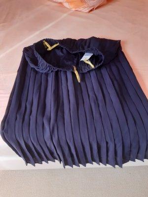 Jupe plissée bleu foncé polyester