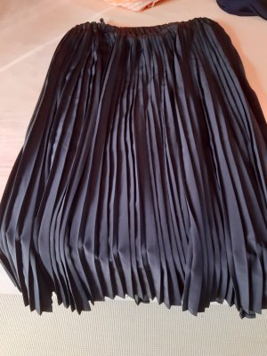 Jupe plissée noir polyester