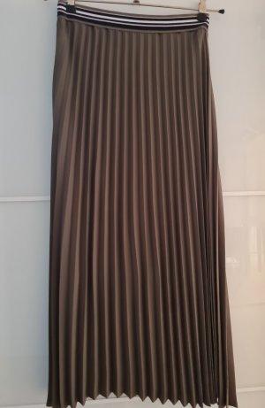 s.Oliver Black Label Plisowana spódnica oliwkowy