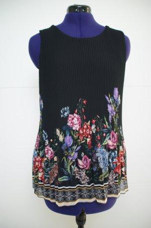 Plissee-Top mit Blumenprint
