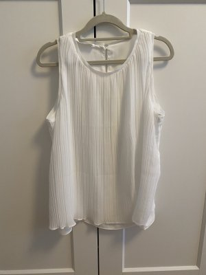 Promod Top in seta bianco-bianco sporco
