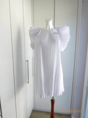 Zara Babydoll Dress white polyester