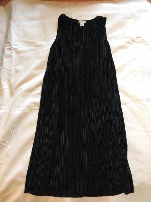 Plisseekleid schwarz