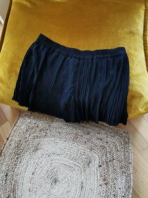 H&M Falda plisada negro Fibra sintética