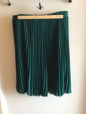 Ashley Brooke Pleated Skirt forest green