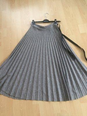 Pleated Skirt dark grey viscose