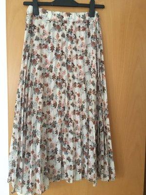 New collecttion Plisowana spódnica Wielokolorowy Szyfon