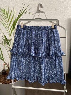 Warstwowa spódnica biały-niebieski