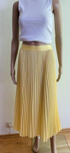 H&M Falda plisada amarillo pálido