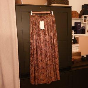 Zara Jupe plissée brun