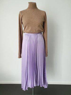 Mango Suit Geplooide rok paars Polyester