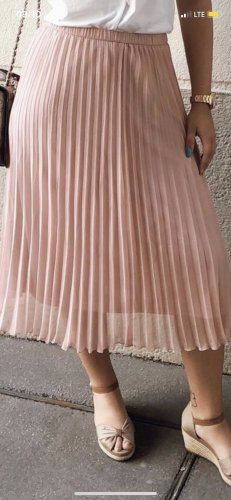 H&M Pleated Skirt rose-gold-coloured