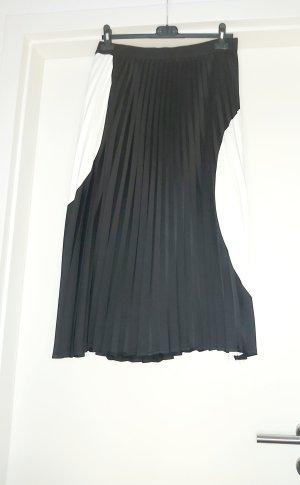 Zero Falda plisada blanco-negro