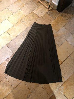 Plisowana spódnica zielono-szary