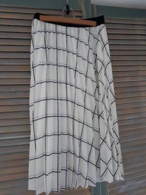 H&M L.O.G.G. Plisowana spódnica biały-antracyt