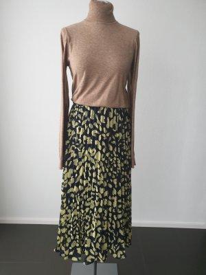 Monki Geplooide rok donkerblauw-lichtgroen Polyester