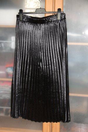 Plisseerock aus Satin