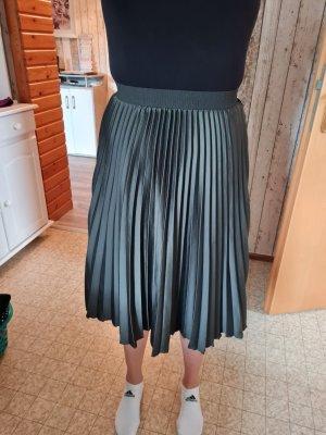 H&M Plisowana spódnica ciemnozielony
