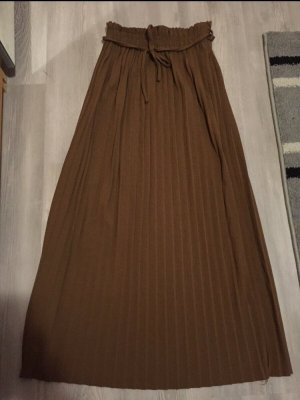 Jupe plissée bronze