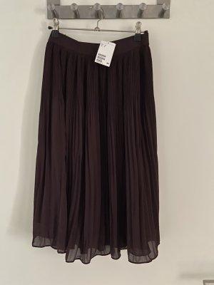 H&M Pleated Skirt blackberry-red-bordeaux