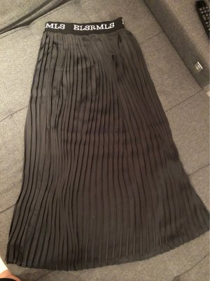 Elias Rumelis Jupe plissée noir-blanc polyester