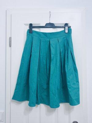 Plaid Skirt green-forest green cotton