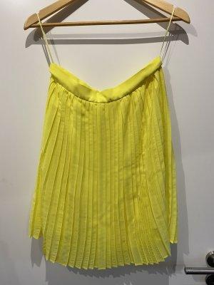 Mango Suit Jupe plissée jaune