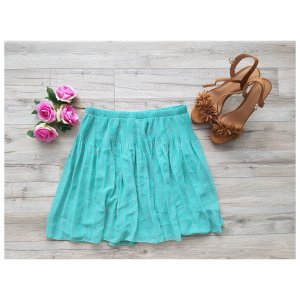 Cache & Cache Pleated Skirt mint-pink