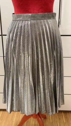 Unbekannte Marke Plisowana spódnica srebrny