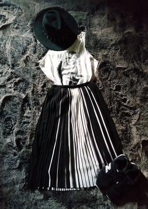 Tally Weijl Pleated Skirt black-white
