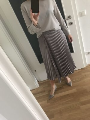 Luisa Cerano Pleated Skirt grey polyester