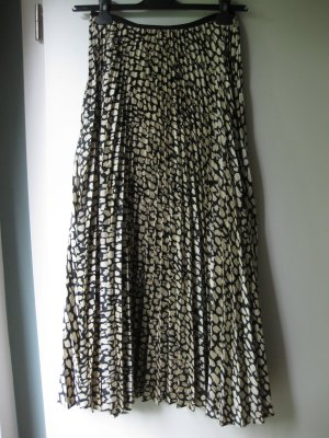 Mango Pleated Skirt anthracite-natural white polyester